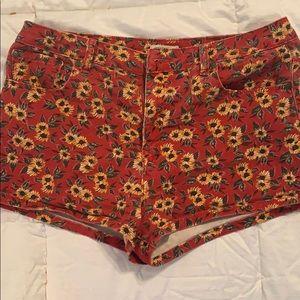 Forever 21 sunflower shorts